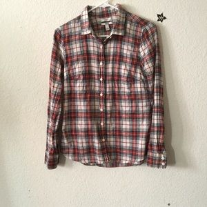 J.Crew Plaid Button Up Shirt